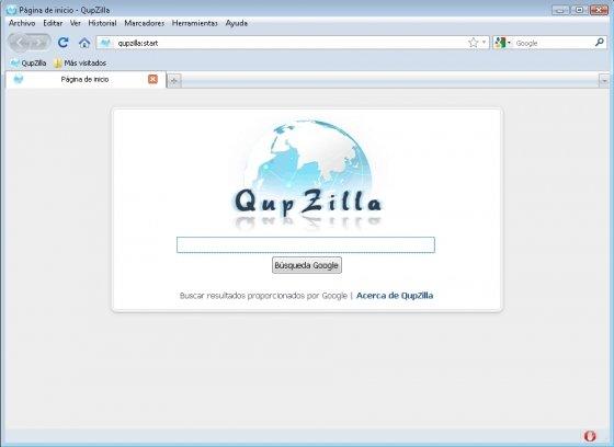 Vista de QupZilla