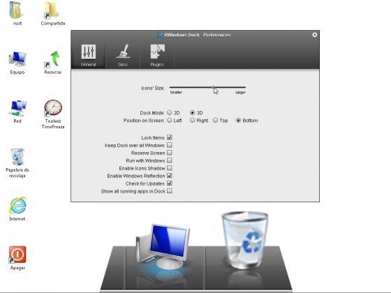 Personalización de XWindows Dock