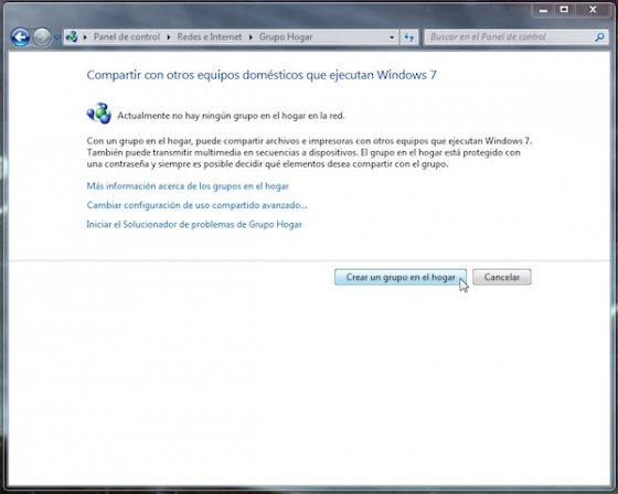 Grupo Hogar en Windows 7 3