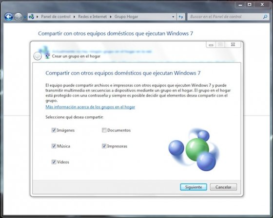 Grupo Hogar en Windows 7 4