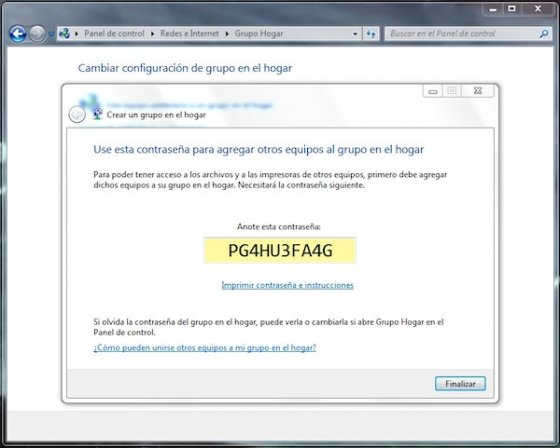 Grupo Hogar en Windows 7 5