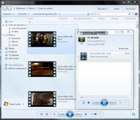 Servidor DLNA en Windows 7 6