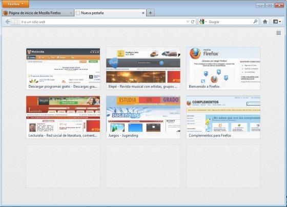 Nueva Pestaña en Firefox 13