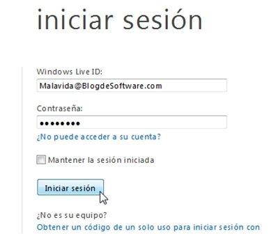 Iniciar sesión en Hotmail - 3