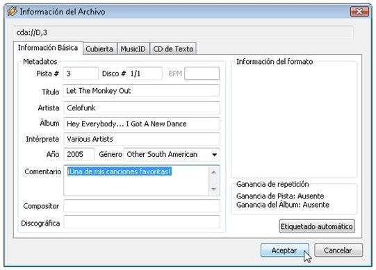 Ripear CDs de audio con Winamp - 3