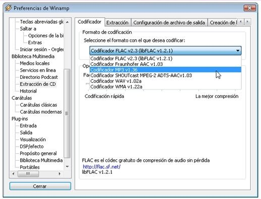Ripear CDs de audio con Winamp - 5