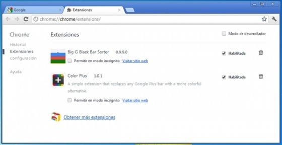 Personalizar la barra negra de Google 2