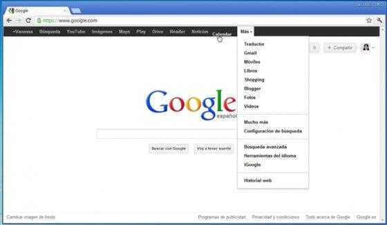 Personalizar la barra negra de Google 5