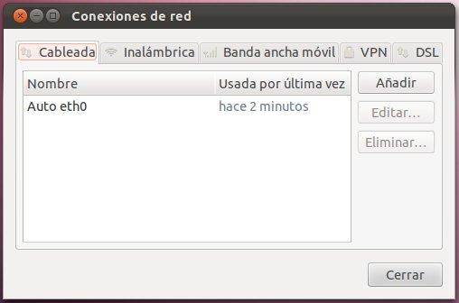 Conexiones en red en Ubuntu