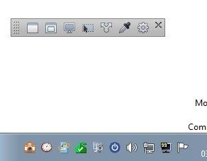 Interfaz e icono en la barra de tareas de SnapCrab