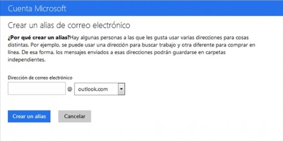 Vincular cuentas en Outlook.com 3