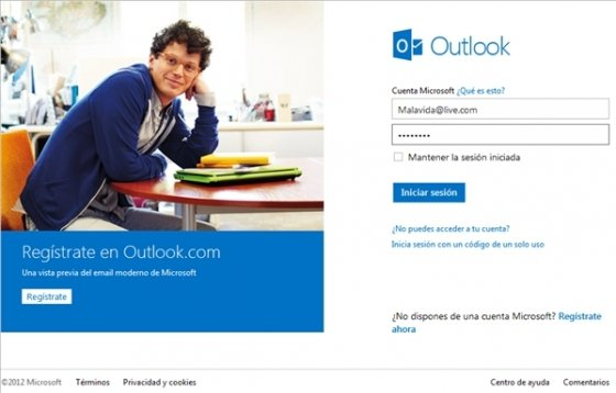 Login en Outlook.com 1