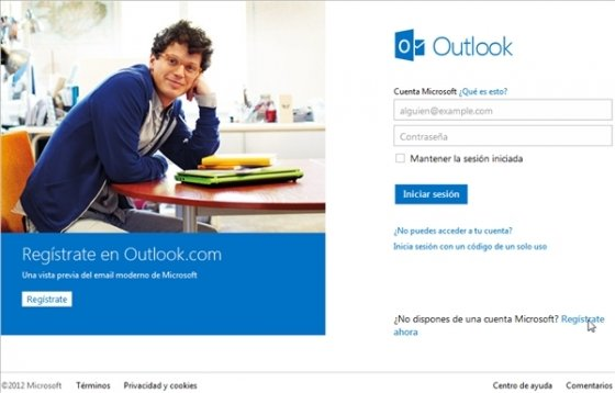 Login en Outlook.com 2