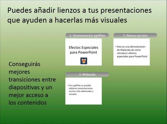 Vista general de la presentación