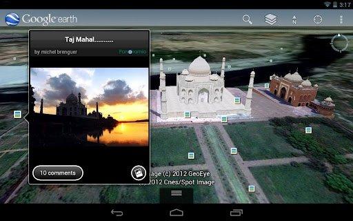 Imagen de Panoramio en Google Earth para móvil