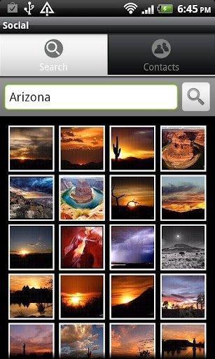 Búsqueda de fotografías en Picasa para Android