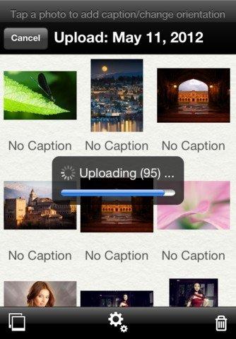 Subiendo fotos con Picasa para iPhone