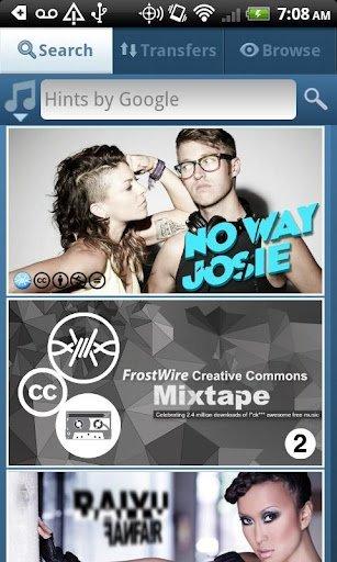 Búsqueda de archivos con FrostWire para Android