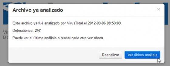 VirusTotal antivirus online - 2