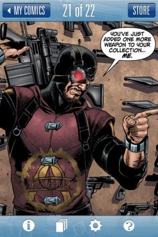 Página en DC Comics para iPhone