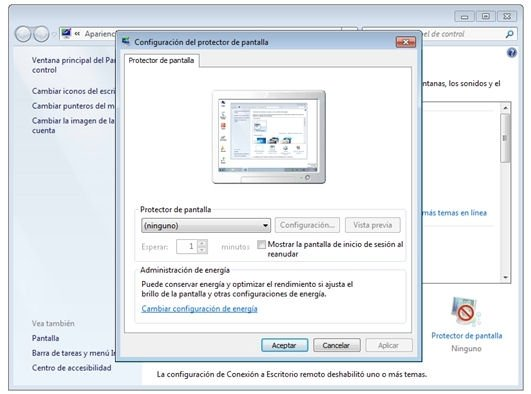 Salvapantallas Windows 7 - 1