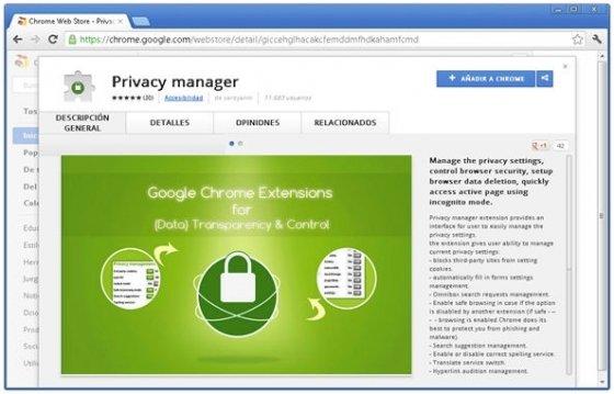 Privacidad de Google Chrome - 1