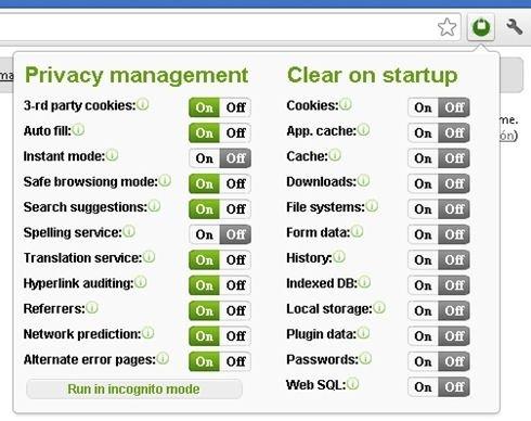 Privacidad de Google Chrome - 2
