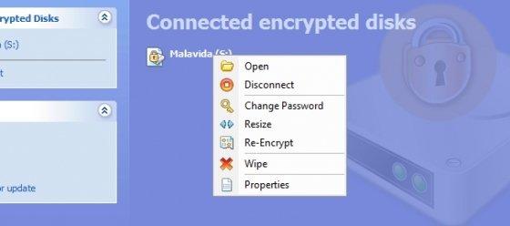 Acceso a la unidad virtual creada con R-Crypto
