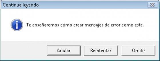Mensajes de error - 1