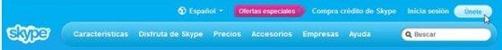 Crear cuenta Skype - 1