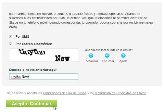 Crear cuenta Skype - 5