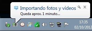 Importando imágenes y vídeo con Dropbox