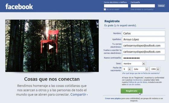 Cómo crear una cuenta en facebook - 1