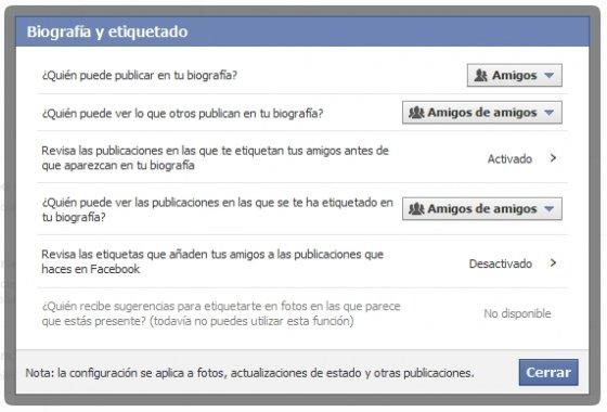 Configuración del etiquetado en imágenes y publicaciones de Facebook