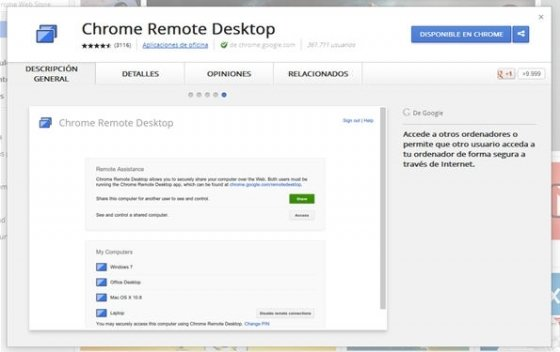 Control remoto con Chrome Remote Desktop - 1