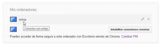 Control remoto con Chrome Remote Desktop - 9