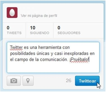 Publicar tu primer tweet