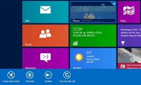 Barra inferior de herramientas en Windows