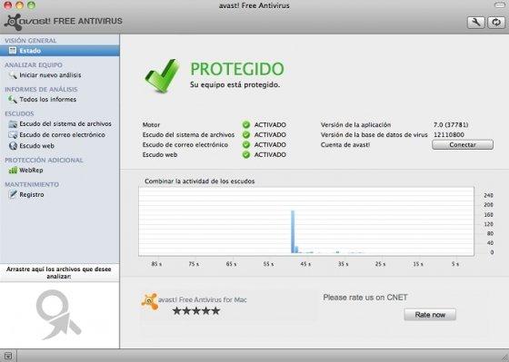 Panel de control de Avast!
