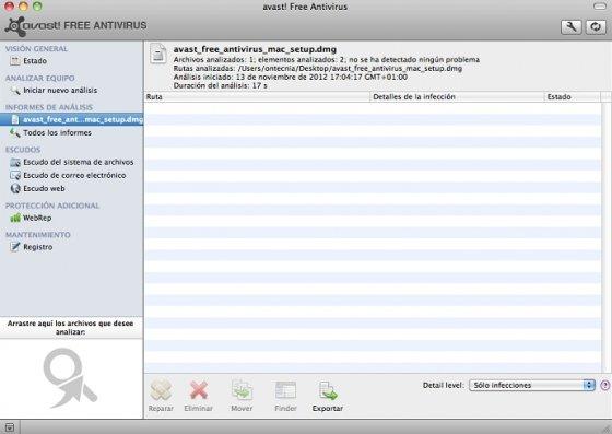 Análisis de archivo con Avast!