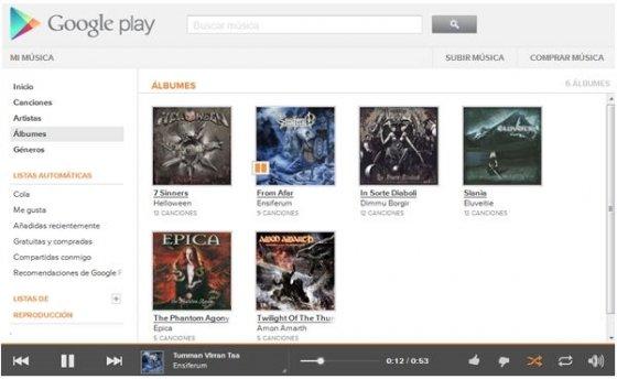 Escuchar música con Google Music