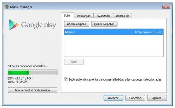 Music Manager de Google Music