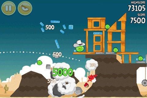 Destrucción en Angry Birds
