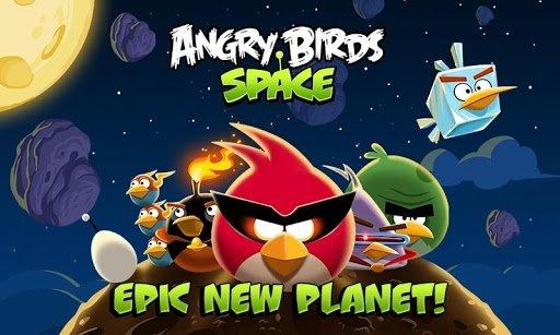Pantalla de presentación de Angry Birds Space