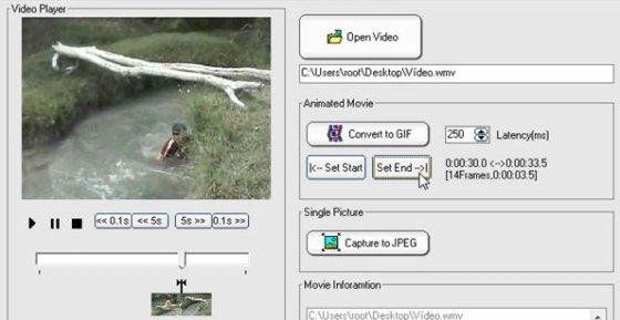 Definir el punto final del nuevo GIF