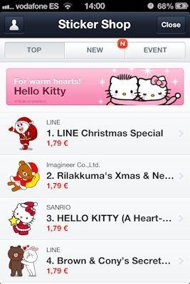 Tienda para comprar stickers en LINE