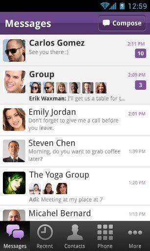 Llamadas y mensajes de texto en Viber