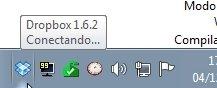 Icono de Dropbox en la barra de tareas