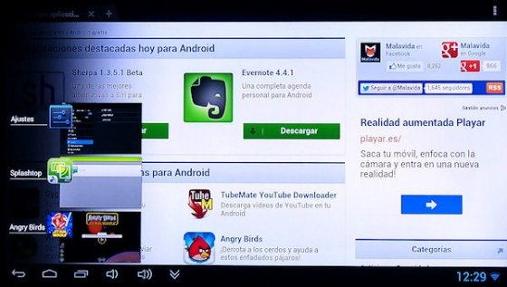 Navegador en Android TV