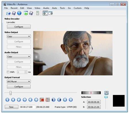 Importar vídeo en Avidemux